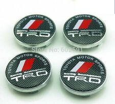 4 x TRD Carbon Fiber Sport Cars Wheel Center Caps 60mm ALLOY Rims Logo Emblem GB