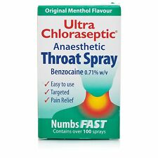 Ultra Chloraseptic Sore Throat Spray Anaesthetic Antiseptic 15ml Benzocaine UK