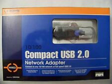 Linksys 10/100 Compact USB 2.0 Network Adapter USB200M (Z32) Open Box