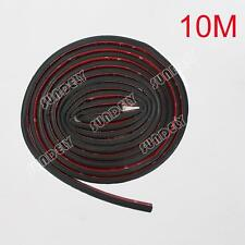 10Meter x 14mm D Look Edging Strip Car Body Door Trunk Self Adhesive Rubber Seal