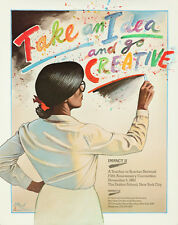 Original Vintage Poster Take An Idea Paul Davis Creative Teacher School Inspire
