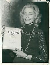 1979 Lauren Bacall Antoinette Perry Award Nomination Original News Service Photo