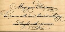 Bright With Promise IR1038 Stampendous Rubber Stamp  Christmas w/m Free Ship NEW