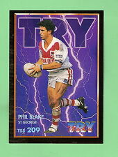 1994 SER. 2  RUGBY LEAGUE TRY MACHINE CARD #209 - PHIL BLAKE, ST GEORGE DRAGONS