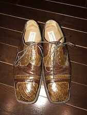 R martegani Men Size 11 100% Genuine Ostrich And Alligator Shoes! Amazing Price!