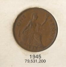 GREAT BRITAIN 1945 KING GEORGE VI PENNY COIN