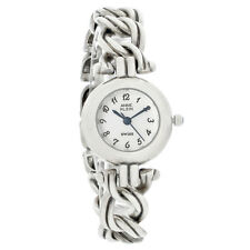 Anne Klein Ladies Sterling Silver White Dial Bracelet Quartz Watch 12-6265SIL