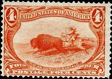 TRANS MISSISSIPPI SERIES Postage MAGNET Hunting Buffalo 1898 issue 4c
