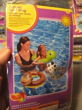 "23"" Swimming Pool Inflatable Split Ring Animal Float Tube Ages 3-6 Zebra"