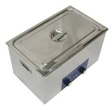 30L Ultrasonic Cleaner Heater Mechanical Heating 800w 110V or 220V free basket t