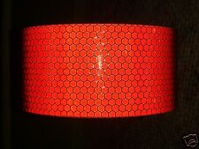 2M X 25MM ORAFOL ORALITE HIGH INTENSITY REFLECTIVE TAPE RED SELF ADHESIVE VINYL