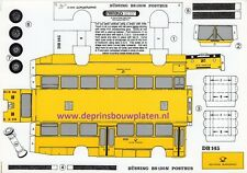 Büssing BS 120N Postbus Papiermodell Baubogen Karton paper model cut out kit