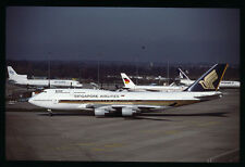 Orig 35mm airline slide Singapore Airlines 747-400 9V-SMB [212-5]