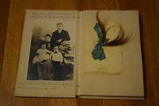 Vintage 1921 Complete Baby Memory Book Photo Album Scrapbook Newborn to Adult