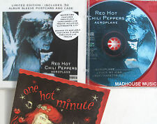RED HOT CHILI PEPPERS CD Aeroplane 3-D POSTCARD & Slv. SUFFRAGETTE CITY Live NEW