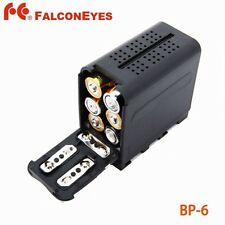 6pcs AA Battery Case Pack Power as NP-F970 for Led Video Light Panel