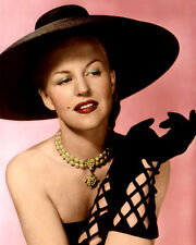 "PEGGY LEE SINGER SONGWRITER HOLLYWOOD ACTRESS 8x10"" HAND COLOR TINTED PHOTOGRAPH"