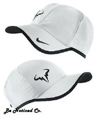 Nike Rafa Bull Logo 2.0 Cap White Black One Size Adjustable Mens Womens New