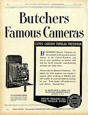 W. Butcher & Sons London Camera House Famous Kameras Historische Annonce 1920
