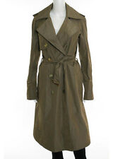 LANVIN RIVER 2005 Brown Double Breasted Belted Waist Long Trench Coat Sz EST 8