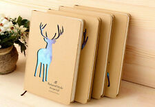 """Sky Deer"" Hard Cover Cute Diary Lined Paper Pocket Notebook Journal Planner New"