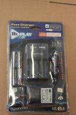 Chargeur de piles rechargeable Ni-Mh & Ni-Cd AA AAA Secteur & voiture + 4 accu
