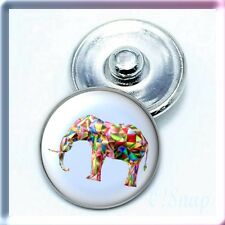 AMINAL ELEPHANT STYLE 5 Ginger Snap Button Charm (Cart ANY 4 items, 2 w/be FREE)