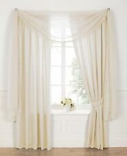PEARL VOILE LINED TAPE TOP CURTAINS - PEARL EMBELLISHED ACCESSORIES AVAILABLE