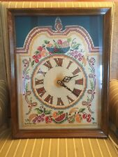 Vintage Cross Stitch Kitchen Clock Works