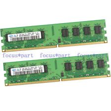 New Samsung 4GB 2X2GB DDR2-800MHz PC2-6400 240PIN PC6400 Desktop Memory NON-ECC