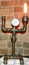 Industrial Pipe Robot Lamp steampunk style with Temperature gauge