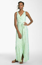 DVF Diane von Furstenberg Serpent Yazhi Silk Jersey Wrap Maxi Dress 2  UK 6 NEW