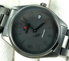 New orient black stainless steel automatic date 38mm watch FER21003B0