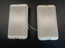 "DUAL SWITCH CABIN LIGHTS PAIR (2) WHITE PLASTIC 7 1/4"" X 4"" MARINE BOAT"