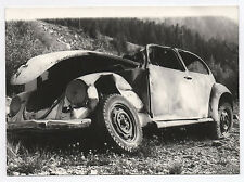 PHOTO ANCIENNE Auto Automobile Voiture La Volkswagen Coccinelle Accident 1960