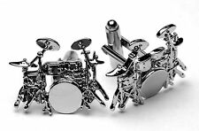 Drum Kit Cufflinks Awesome detail, Excellent Drummer Gift!!