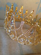 Gold Crown . Fairy Queen Crown. Stage Prop. Wedding Crown. Full Crown . Pageant