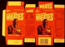 Michael Jordan Bulls~Basketball~Flat~Unused Wheaties Cereal Box Oddball Sports