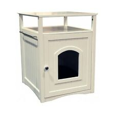 Litter Box Furniture Cat Kitty Bed Pet House End Table Hidden Dog Beds Cats Dogs