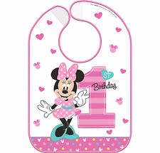 Disney Baby Minnie Mouse 1st Birthday Bib Baby Girl First Birthday Party Supply