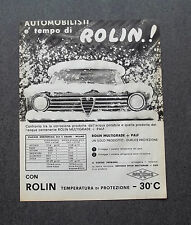 H702 - Advertising Pubblicità -1964- ROLIN MULTIGRADE + PALF
