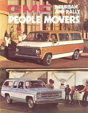 1976 GMC Suburban & Rally People Mover Brochure - Mint!