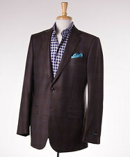 NWT $2495 ERMENEGILDO ZEGNA Windowpane Trofeo Light Wool Sport Coat 42 L Milano