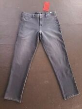 STONE LOVE Mid Rise STONE WASHED Straight Leg Denim BOYFRIEND Jeans Sz16 L32 NWT