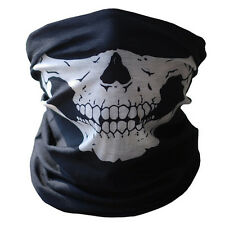 Skull Half Face Bandana Skeleton Ski Motorcycle Biker Paintball Mask Scarf KY