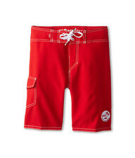 NWT Vans Off The Wall  Boy's 18 Solid  Red Beach Surf Boardshorts Board Shorts