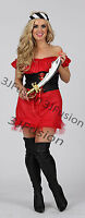Caribbean Pirate Ladies Fancy Dress Buccaneer Hen Party Womens Costume Outfit  L