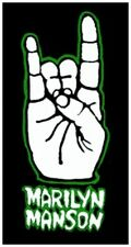 Marilyn Manson - Metal Salute Hand Patch Aufnäher Metal Gothic Rock Punk NEU