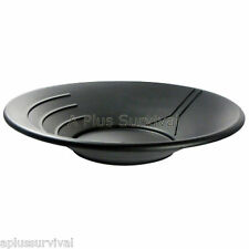 "14"" Black Gold Pan with 3 Ridges - Emergency Survival Kits Panning Equipment"