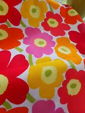 MARIMEKKO  MINI UNIKKO FABRIC RED  YELLOW PINK  BY THE 1/2 yd Up to 4 yards